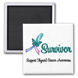Mariposa de la cinta del superviviente del cáncer  imán de frigorifico