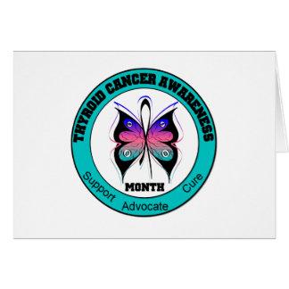 Mariposa de la circular del mes de la conciencia d tarjeta de felicitación