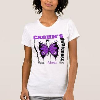 Mariposa de la conciencia de la enfermedad de camisetas