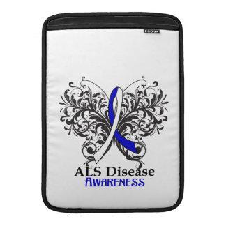 Mariposa de la conciencia de la enfermedad del ALS Fundas MacBook
