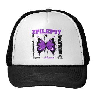 Mariposa de la conciencia de la epilepsia gorro de camionero