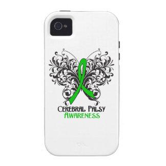 Mariposa de la conciencia de la parálisis cerebral iPhone 4/4S fundas