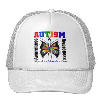 Mariposa de la conciencia del autismo gorro