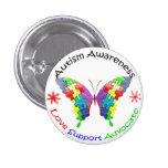 Mariposa de la conciencia del autismo pins