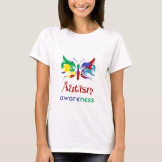 Mariposa de la conciencia del autismo playera