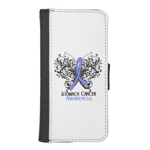 Mariposa de la conciencia del cáncer de estómago fundas tipo cartera para iPhone 5