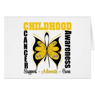 Mariposa de la conciencia del cáncer de la niñez tarjeta de felicitación