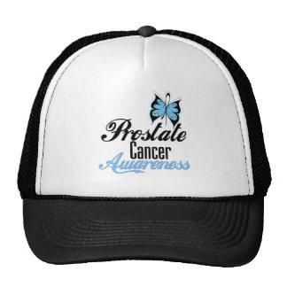 Mariposa de la conciencia del cáncer de próstata gorras