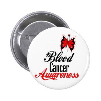 Mariposa de la conciencia del cáncer de sangre pin redondo de 2 pulgadas