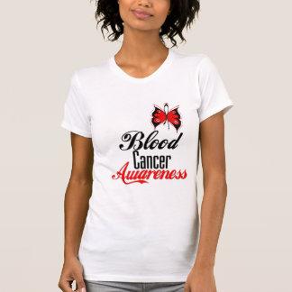 Mariposa de la conciencia del cáncer de sangre camiseta