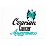 Mariposa de la conciencia del cáncer ovárico postal