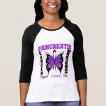 Mariposa de la conciencia del cáncer pancreático camisetas
