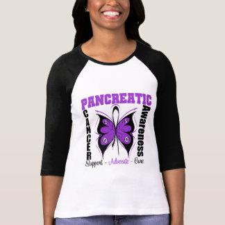 Mariposa de la conciencia del cáncer pancreático tshirts