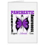 Mariposa de la conciencia del cáncer pancreático felicitaciones