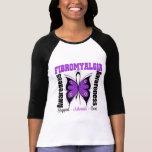 Mariposa de la conciencia del Fibromyalgia Camisetas