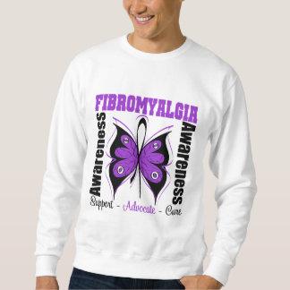 Mariposa de la conciencia del Fibromyalgia Suéter