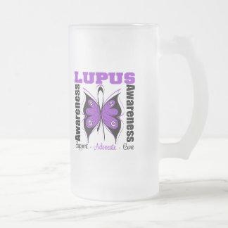 Mariposa de la conciencia del lupus tazas de café