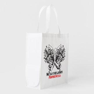 Mariposa de la conciencia del mesotelioma bolsas de la compra