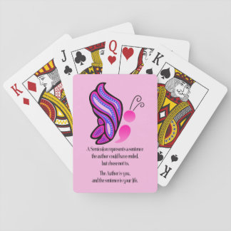 Mariposa de la conciencia del suicidio/de la cartas de juego