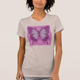 Mariposa de la conciencia en el tartán púrpura playera
