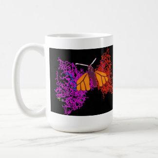Mariposa de la cromatina taza
