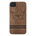 Mariposa de la Cuero-Mirada iPhone 4 Case-Mate Carcasas