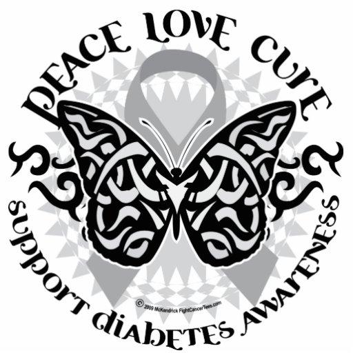 Mariposa de la diabetes tribal escultura fotográfica