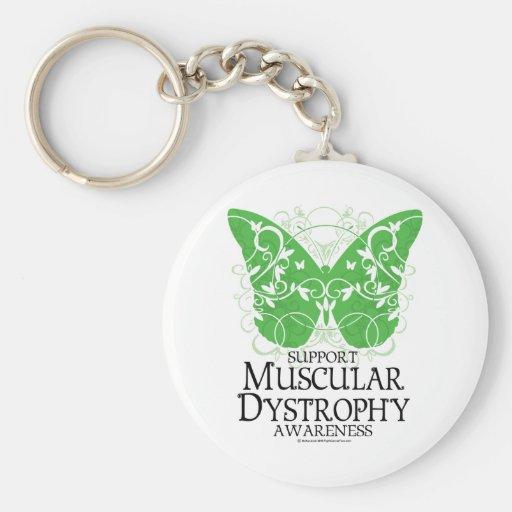 Mariposa de la distrofia muscular llaveros personalizados
