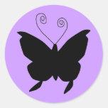 Mariposa de la diva pegatinas redondas
