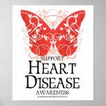 Mariposa de la enfermedad cardíaca impresiones