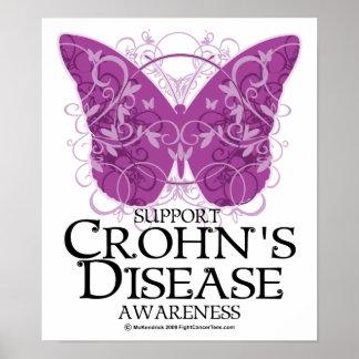 Mariposa de la enfermedad de Crohn Posters