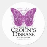 Mariposa de la enfermedad de Crohn Pegatinas Redondas