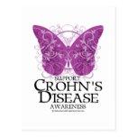 Mariposa de la enfermedad de Crohn Postal