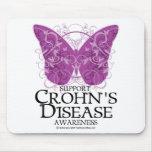 Mariposa de la enfermedad de Crohn Alfombrillas De Ratones