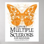 Mariposa de la esclerosis múltiple póster