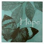 Mariposa de la esperanza azulejo