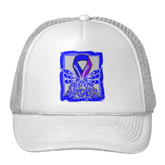Mariposa de la esperanza de la artritis reumatoide gorras de camionero