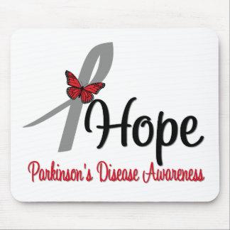 Mariposa de la esperanza de la enfermedad de Parki Tapetes De Raton