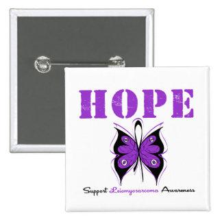 Mariposa de la esperanza de Leiomyosarcoma Pins