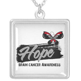 Mariposa de la esperanza del cáncer de cerebro collares