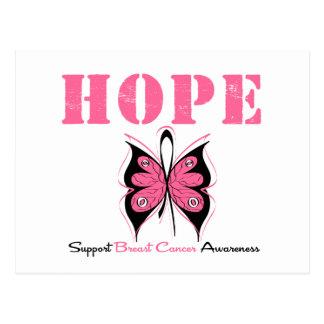 Mariposa de la esperanza del cáncer de pecho postal