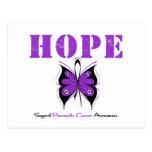 Mariposa de la esperanza del cáncer pancreático tarjeta postal