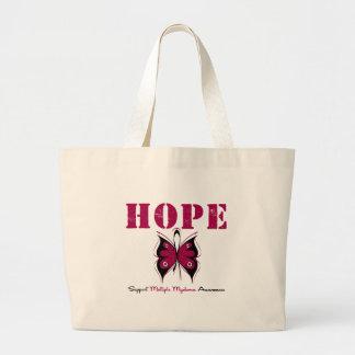 Mariposa de la esperanza del mieloma múltiple bolsa tela grande