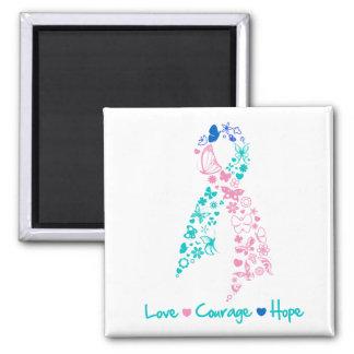 Mariposa de la esperanza del valor del amor - cánc iman para frigorífico