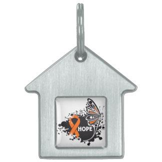 Mariposa de la esperanza RSD Placa De Mascota