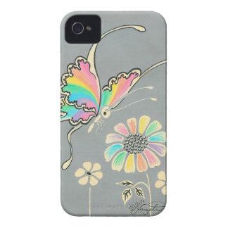 Mariposa de la fantasía del arco iris iPhone 4 carcasas