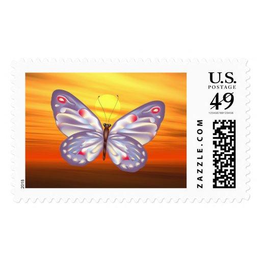 Mariposa de la fantasía sello
