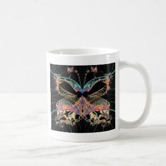 Mariposa de la fantasía taza de café