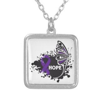 Mariposa de la fibrosis quística de la esperanza collar personalizado