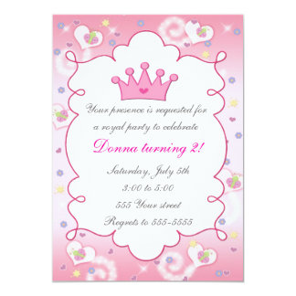 """Mariposa de la fiesta de cumpleaños de princesa invitación 5"""" x 7"""""""